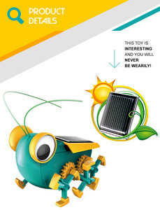 Cricket insect walking kids intelligent smart toys robot solar