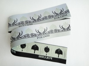 Fashion Personalized Design Custom Garment Trademark Name Logo Sew on Damask Woven Label for Clothes
