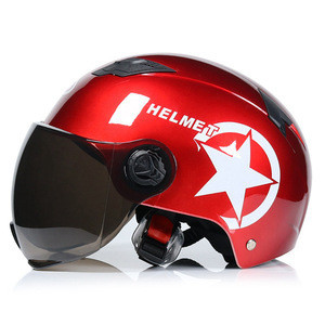 Half Face Helmet Motorbike Motorcycle Harley Helmet For Men Women With Goggles Glasses