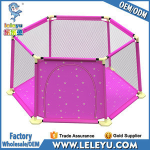 Hexagonal Folding Baby Play Yard Kids Play Fence for Toddlers Indoor and Outdoor