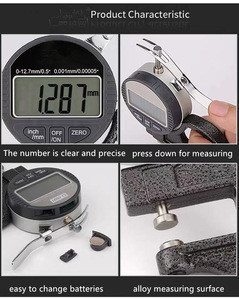 High Accuracy Digital Dial Thickness Gauge for measurement veneer and plywood