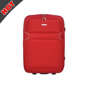 High quality Soft Zipper Built-in Caster Hotel Luggage Trolley