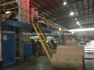 High Speed 5 Layer Corrugated Cardboard Production Line/Corrugated Carton Making Machine/Stamping Complete