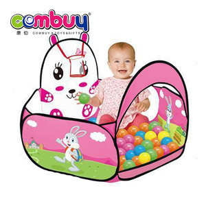 Hot selling cartoon baby soft play toy tent play plastic pool balls