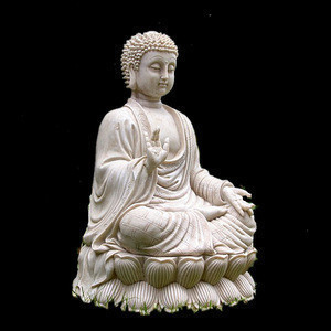 Life size garden marble stone buddha statue