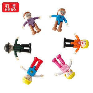 Magnetic Tiles Accessory Mini Figures Family Profession Little Doll Series People Magnetic Building block For Kids Toys