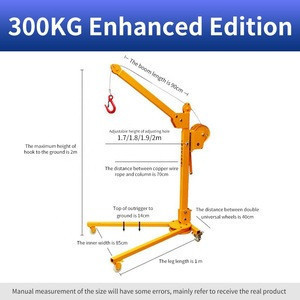 Manufacturers supply new workshop operation hand operated mobile floor jib crane