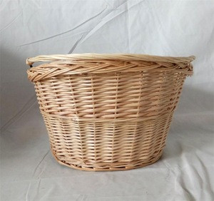 Import Much Cheaper Removable Bicycle Basket Willow Basket With Hook from China
