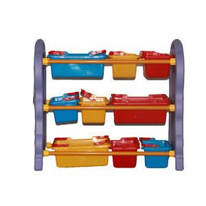 Preschool furniture organizer cheap durable multi cabinet plastic goods toy storage kids shelf
