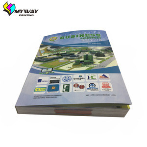 Sewing binding softcover book with pictures printing