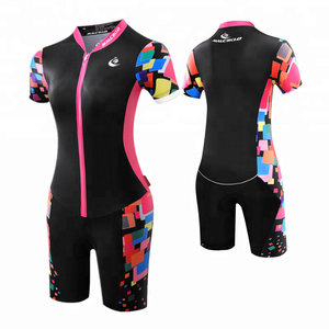 Short arm sleeve cycling clothing suits mature women wear