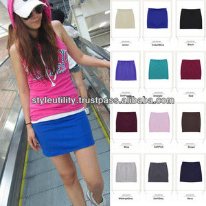 St2r01 16 colors spandex cotton mini skirts made in korea MOQ 1000