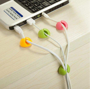 Universal Desktop Cable Clips, Colorful Cord Organizer Cable Management Desk Wire Cable Holder
