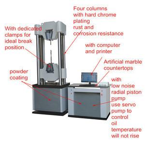 WAW-1000B Microcomputer Controlled Electro-hydraulic Servo Universal Testing Machine