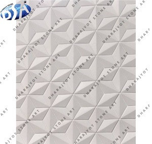White Marble Antique Design Beautiful Stone Carved Wall Panel Relief