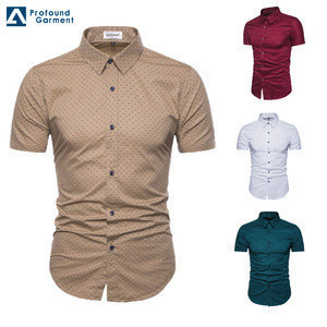 Wholesale luxury stylish button up man shirt short sleeves slim fit custom floral shirts for men latest shirts pattern for men
