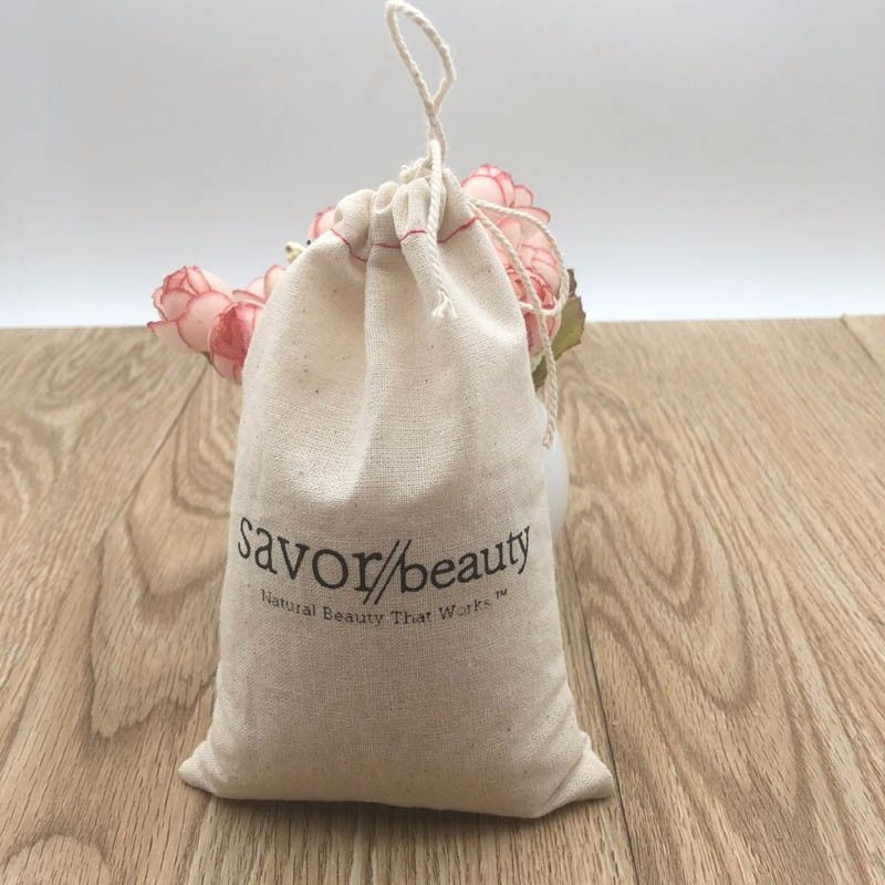 NATURAL CLOTH GIFT PACKAGING DRAWSTRING DUST PRINTED CUSTOM STRING PRODUCE COTTON PUNCH BAGS