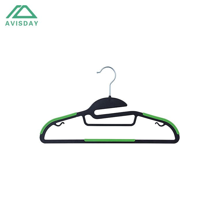 Avisday Stylish Top Grade ABS Plastic Hanger With Scarf Tie Belt Bar Rubber Band For Anti-Slipping