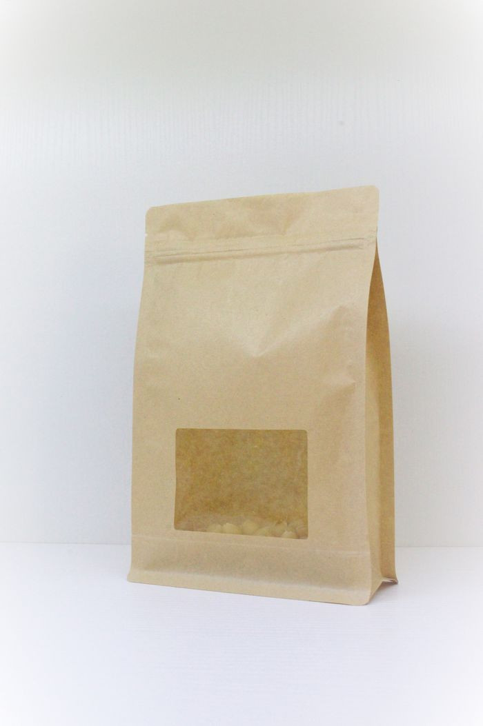 coffee, tea, nuts, herbals retail common packaging paper box pouch with transparent window