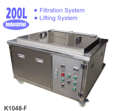 200L Large Ultrasonic Cleaner with Lifting and Filtration System