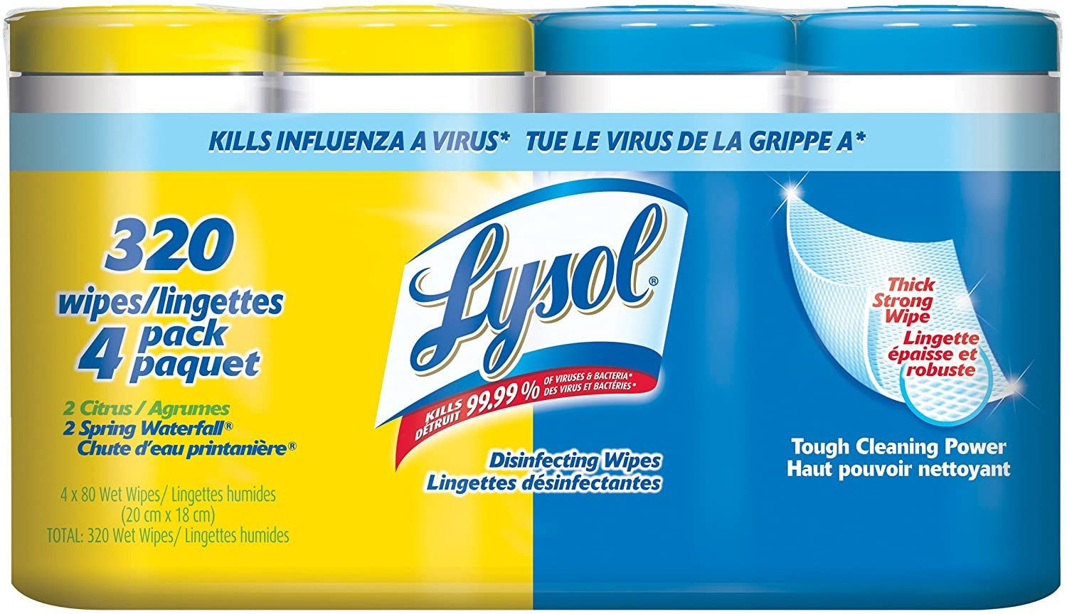 Lysol wipes 4 x 80 Count