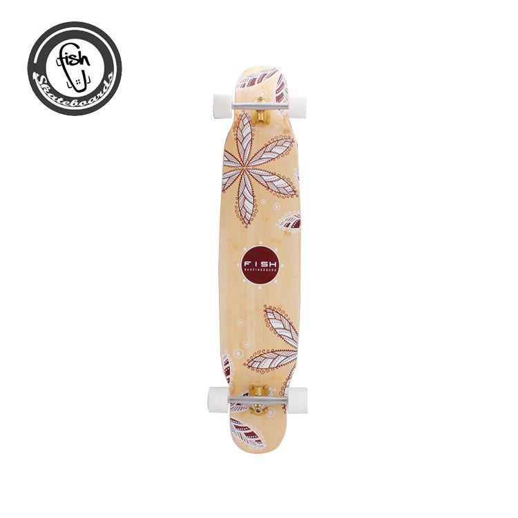 Four Wheel Wood Longboard Skateboard