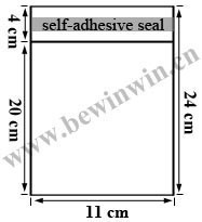 11x24cm 550 pieces /pack Cello Bags / Cellophane Bags with self adhesive tape seal for wholesale and retail & Free Shipping