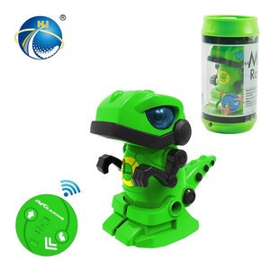 2019 Best Gift For Kids Lovely Infrared Remote Control Intelligent Robot 2CH Mini RC Robot Toys With LED Lights
