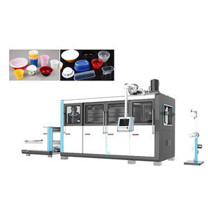 Automatic four-pillar hydraulic disposable plastic food container thermoforming making machine