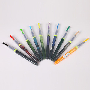 Chinese Calligraphy 10 Colors New Water Colour Brush Pen Water Color Drawing  Press out ink Marker Pen