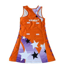 Colourful custom designed netball uniform