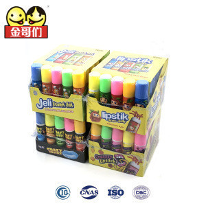 Crazy lipstick Rotatable Creative Childrens Sweet Squeeze Gel Jelly candy