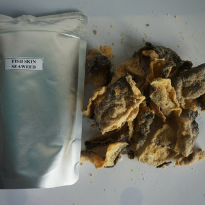 Crisp salted egg fish skin seafood snack for wholesale,  high quality fish skin snack for export