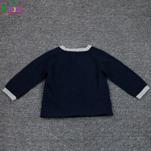 Custom soft infant clothes newborn baby boy jacquard knitting pattern sweater