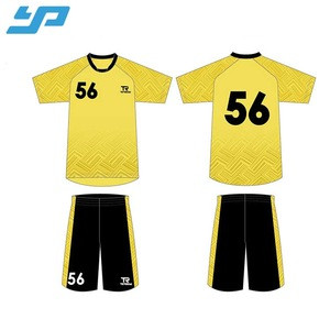 Custom sublimation sports wear/soccer kit/football jersey and shorts soccer
