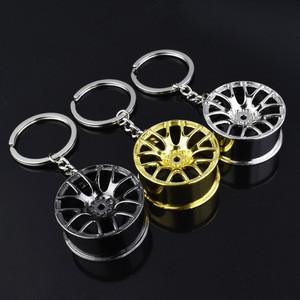 Customized Logo Creative Gift Metal Turbo Car Wheel Hub Keychain