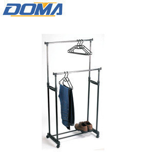 Eco-friendly Clothing Stand Double Pole Balcony Clothes Drying Rack Portable Garment dryer Hanger clothing rack