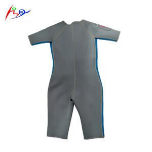 Grey Neoprene 3mm Short Sleeve Diving Suit Snorkeling Surfing Wetsuit custom design shorty wetsuits