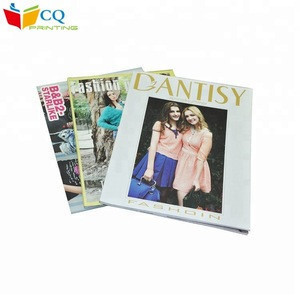 Guangzhou printing softcover  glossy art paper monthly fashion magazine publishing