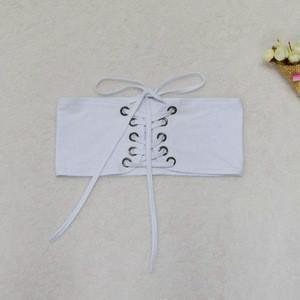 JYSS European and American popular fashion bandage white black womens belts 60058