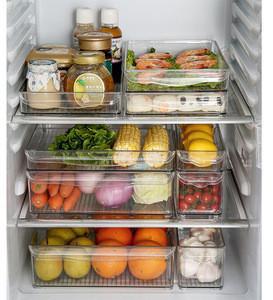 Kitchen Clear Refrigerator Storage Containers Box plastic Storage bins
