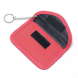 Leather Wallet RFID Blocking Car Key Case Bag Signal Shield Car Key Pouch Protector