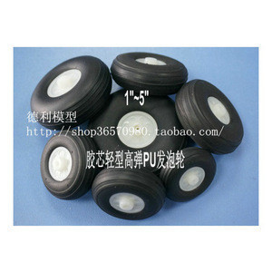 Light Weight High Elasticity PU Wheel 3.25inch-5inch for RC Plane Landing Gear Accessories