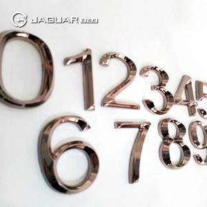 Manufacturer Custom Plastic Hotel Door Adhesive Numbers Metal Office Door Numbers