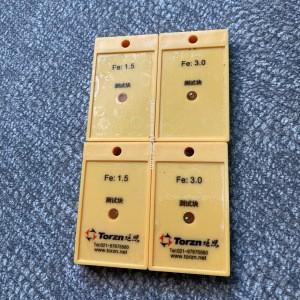 Metal detector test pieces