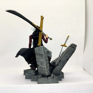 One Piece Dracule Mihawk  with sword Collection Anime  model toy for gifts pvc action figures with box