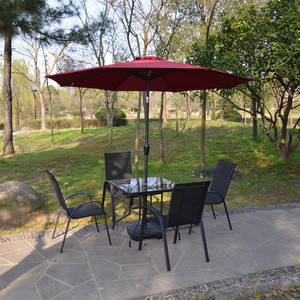 Patio Umbrella Replacement Canopy Market Umbrella  with 8 Ribs with Bases