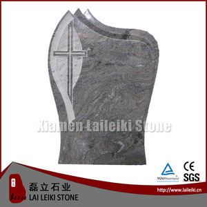 Polished Cross Paradiso Granite Tombstone And Monument