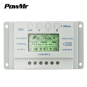Powmr T20 20a Lcd Solar Charge Controller 12v 24v Solar Panel Batteries Charge Regulator Pwm Solar Controller Powmr T20 20a Lcd Solar Charge Controller 12v 24v Solar Panel Batteries Charge Regulator Has been added to your cart. powmr t20 20a lcd solar charge