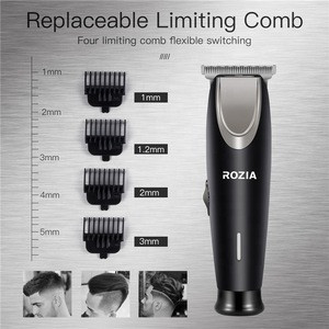 Professional Made Low Noise Electric Hair Clippers, Portable Mini Usb Rechargeable Replaceable Limiting Comb Hair Trimmer